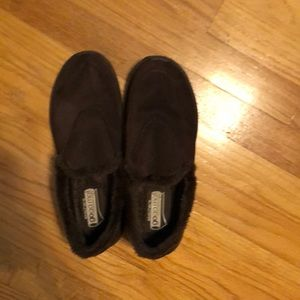 Sketchers GoGa Mat Brown Slip On Shoes Size 8.5